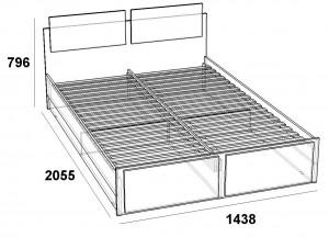 Эрика кровать 1400