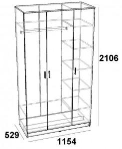 Эрика шкаф трехдверный