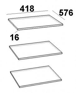 Комплект полок для шкафа однодверного 3 шт. Скарлет