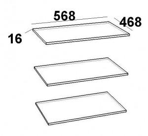 Комплект полок на шкаф 2-х дверный 600