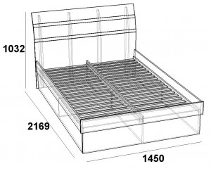 Кровать 1400 Царга скарлет