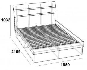 Кровать 1600 Царга скарлет