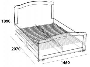 Кровать двуспальная 1,4 палермо
