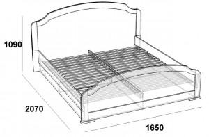 Кровать двуспальная 1,6 палермо