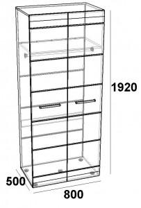 Шкаф 2-х дверный 800