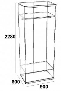 Шкаф двухдверный Скарлет
