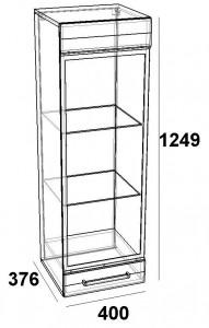 Шкаф навесной 400 -витрина