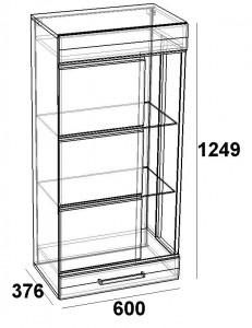 Шкаф навесной 600 -витрина