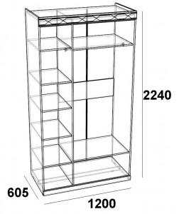 Шкаф трехдверный с зеркалами