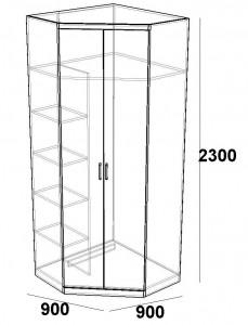 Шкаф угловой двухдверный FU-900 Фортуна