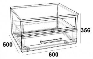 Тумба ТВ 600 мм. -стекло