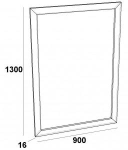 Зеркало в рамке FZ-900