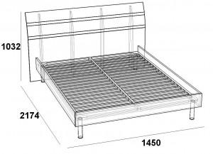 кровать 140 под основание скарлет