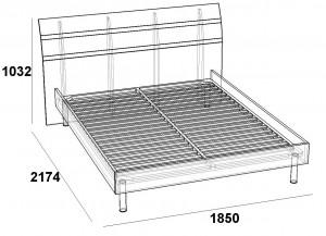 кровать 160 под основание скарлет