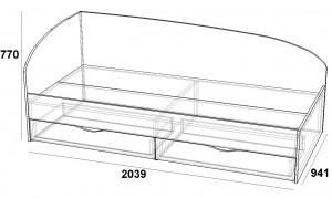 Скарлет Кровать с ящиками 900 скарлет