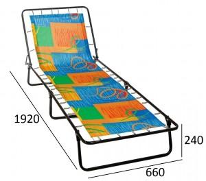 Раскладная кровать Стефания (жесткая) полипропиленовая ткань