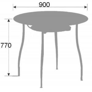 Стол стеклянный В-1