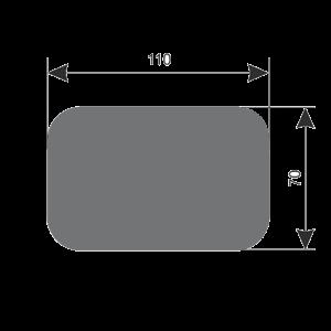 Стол стеклянный В-2 Ch Византия-2 размер