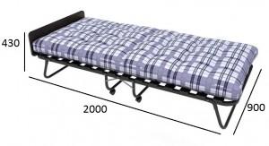 Кровать-тумба Отель (на ламелях) поролоновая крошка