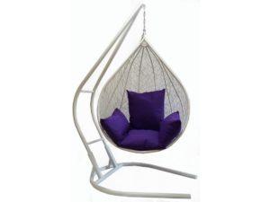 Подвесное кресло Капля из искусственного ротанга