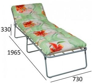 Раскладная кровать Надин (мягкая) крошка поролона