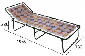 Раскладная кровать Надин (жесткая) полипропиленовая нить