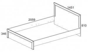 Кровать 140 см. Denver схема
