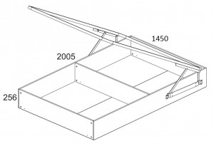 Кровать 140 см. с подъёмным механизмом Denver схема