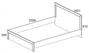 Кровать 160 см. Denver схема