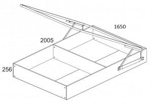 Кровать 160 см. с подъёмным механизмом Denver схема