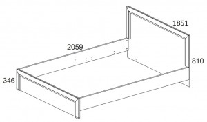 Кровать 180 см. Denver схема