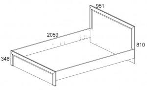 Кровать 90 см. Denver схема