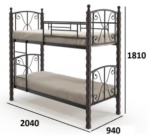 Кровать двухъярусная Жучок