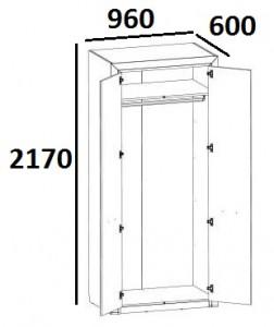 Шкаф 2DG Denver схема