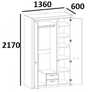 Шкаф 3D2S Z Denver схема