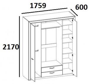 Шкаф 4D2S Denver