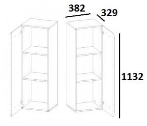 Шкаф навесной 1D TYP03 City схема