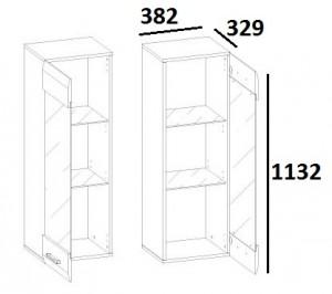 Шкаф навесной 1V TYP05 City схема
