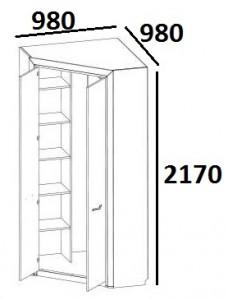 Шкаф угловой 2D Denver схема