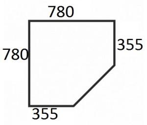 Шкаф угловой с полками Denver размер
