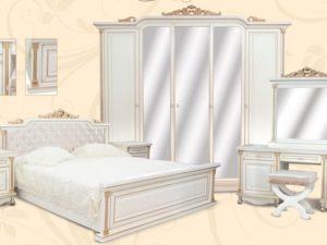 Спальня Ариза эмаль ваниль